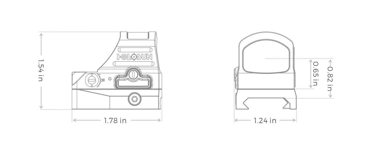 Holosun HS507C X2 Specs Striplin Custom Gunworks