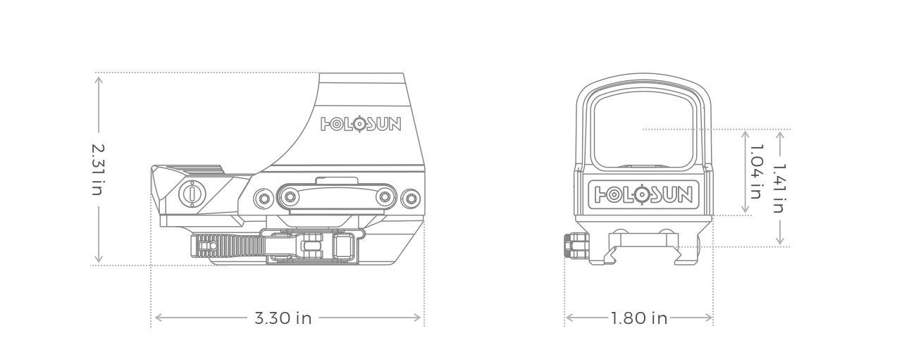 Holosun HS510C Specs Striplin Custom Gunworks